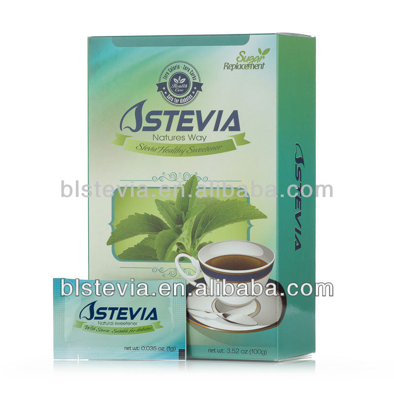 Factory price stevia sugar sachet with free calory as flavoring additives to coffee, tea, food and beverage