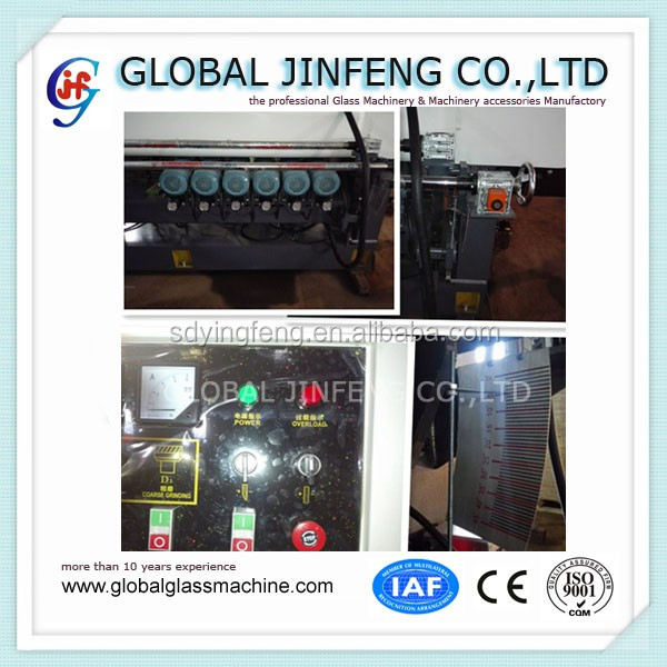JFB-261 China made 9 spindles glass straight line beveling edging machine for sale