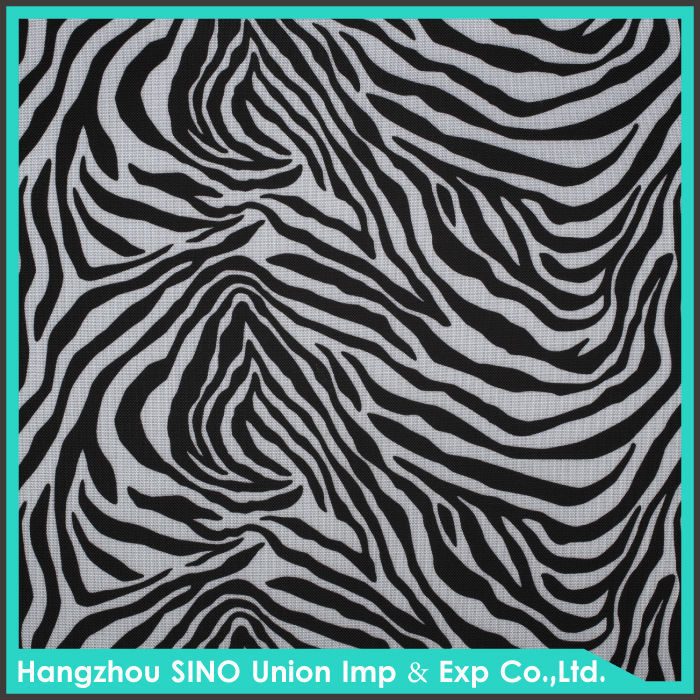 Pattern customized zebra printed waterproof ripstop PVC oxford fabric for luggage and bag