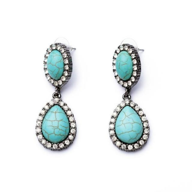 women turquoise pendant earrings costume earrings beautiful woman jewelry