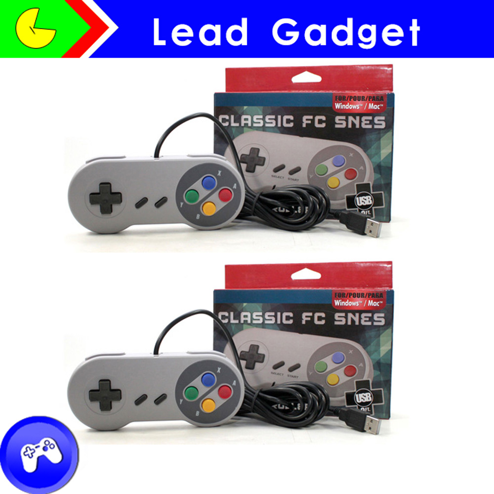 High quality wired Classic Controller For SNES/NES game joystick For Super nintendo snes USB, snes usb wired game controller