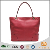 S1044-A4001- vegetable leather special handle bag luxury leather handbags tote bags women manufacturer from China