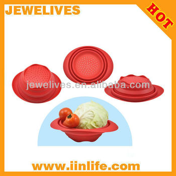 Silicone vegetable steamer,vegetable basket