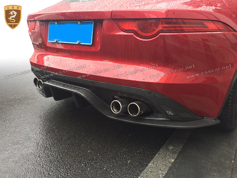 Carbon rear diffuser for Jaguar f-type rear lip high quality