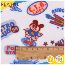 Wholesale fabric suppliers cartoon print 100% polyester french terry fleece fabric