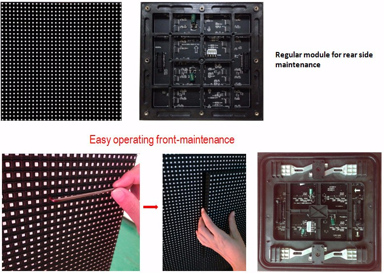 Top Quality P8 Front Maintance LED Display with Full Color LED Screen