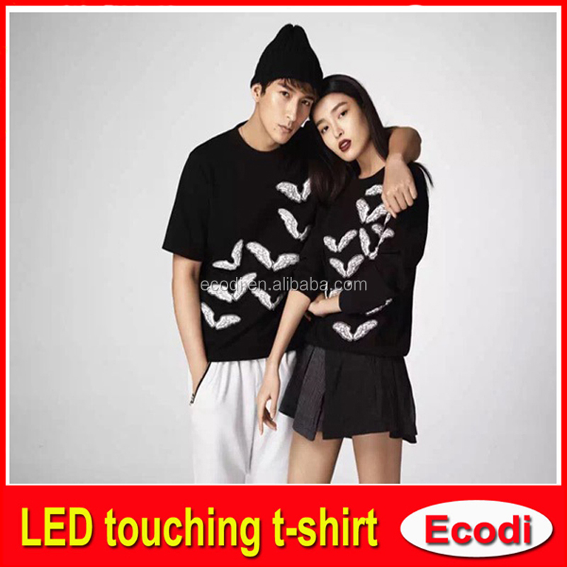 USA EL Light-up Graphic Equalizer T shirt China manufacturer