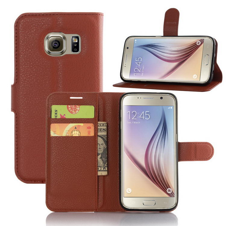 Newest stylish leather case cover for samsung s7