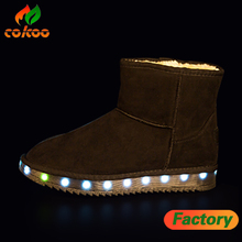 led snow boot High quality Fashion Led Light Up Snow Boots new products