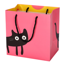 Custom printed shopping recyclable gift packaging paper bag with handles