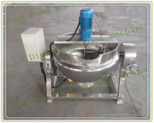 Jam Jacket kettle with agitator//mixing jacket pot for paste//electrical jam processing cooker