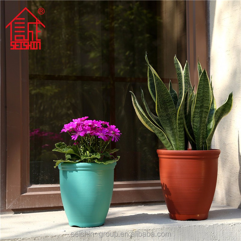 Resin Large Garden Plastic Decoration Flower Pots Planters Cheap
