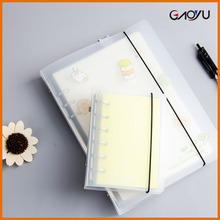 Manufacturer School Eco-friendly Stationery PP Arch Frosted Ring Rope Binder