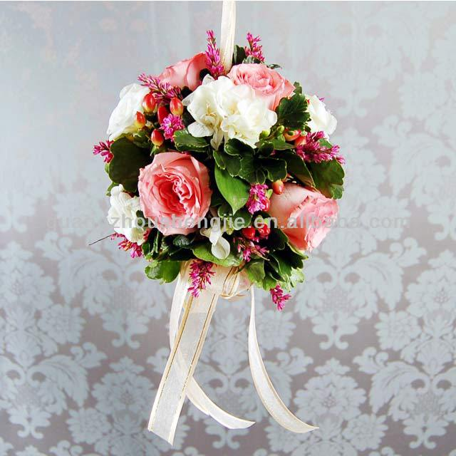 decorative artificial flower balls for weddings hanging flower ball