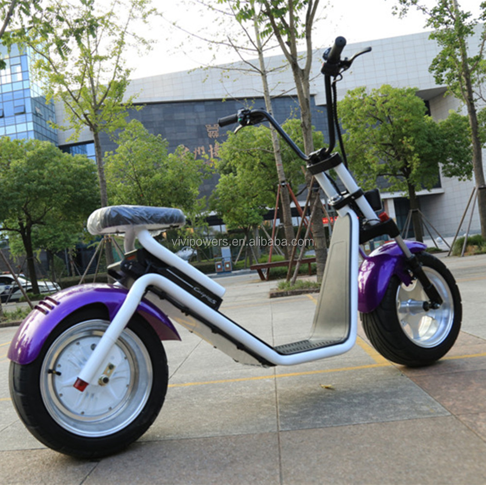 Big tryes Electric Fashion Fat Tire Scooter with 60V 1500W