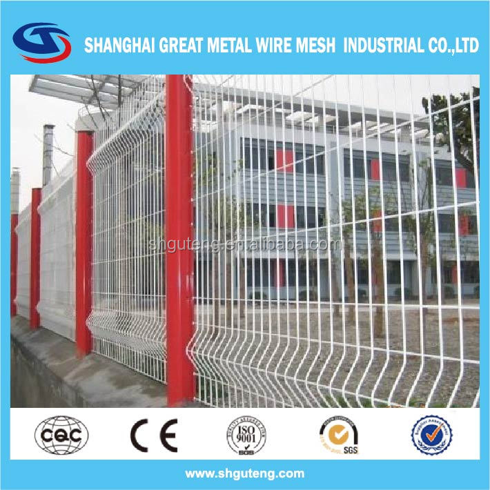 white wrought iron fence white pvc coated welded wire mesh fence