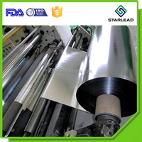 Best heat sealing strength metallized cpp film, vmcpp film roll, aluminized cpp for food safety packaging
