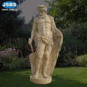 carved natural stone life size superman statue