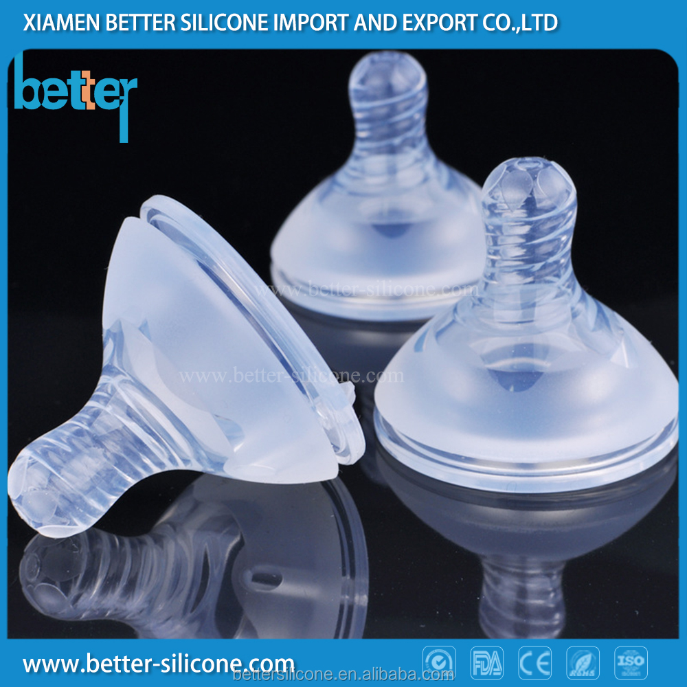 China manufacturing wholesale baby lilquid silicone rubber nipple