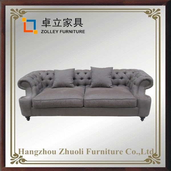 Oriental Antique Style Living Room Sofa living room classic low arm sofa