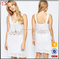 China factory OEM crochet knit dresses for latest net dress designs photos