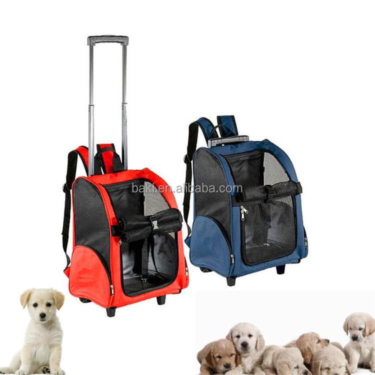 Multi-functional pet carrying bags trolley multipurpose pet dog bag