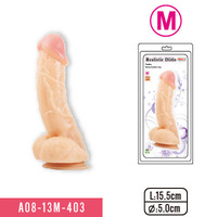6'' Soft jelly solid dong realistic dildo with sturdy suction cap