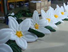 2015 new brand 10m length white inflatable flower string for wedding decoration