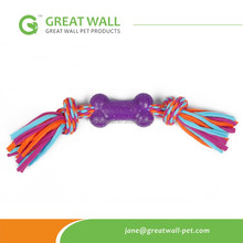 Pet TPR Rubber toy with cotton rope for dog play