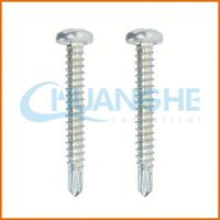 China screw manufacturer carbon steel anti-rust screw with silver zinc plated