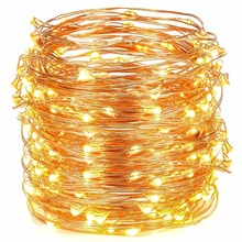 Christmas Lighting 20M 98FT Copper Wire LED Rope Fairy String Lights Holiday Lights