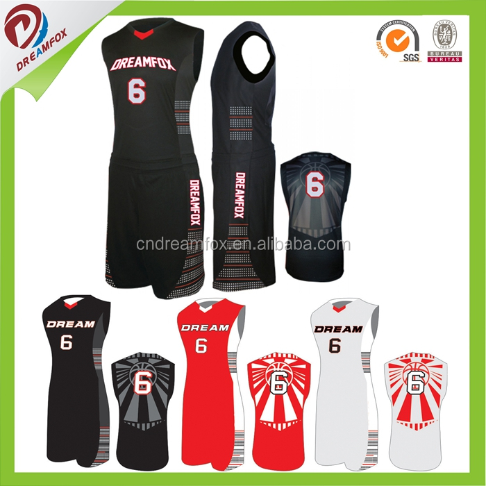 sublimation custom kids basketball jersey set wholesale basketball uniforms made in china