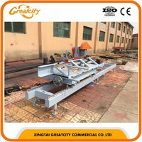 Steady mini sliding table saw for solid wood cutting