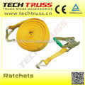 Ratchets lashing for truss system
