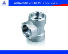 NPS WP304 316 Stainless Steel Pipe Fittings Threaded Equal Tee