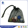 Eco-friendly high qulity golf mesh bag with drawstring