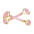 Arc shape gold frame Rose Quartz Roller for Face Body Skin Therapy
