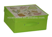 collapsible fabric storage boxes with removable lids