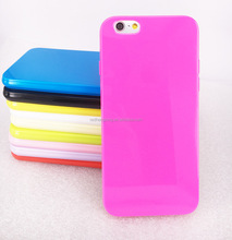 Pretty solid candy color soft tpu cell phone case for iphone 6