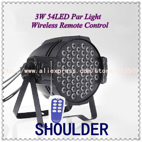Hot Sale!! 54*3W RGBW DMX LED Par Can for DJ Disco Stage Party Pub Show Light