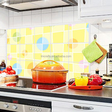 Lovely Polka Dot background Kitchen tile oil proof aluminum waterproof oil high temperature home decoration Wall sticker AY3022