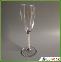 Manufacture Stem Crystal Glass Wine Cup Wedding For Guests Champagne Glasses with diamond
