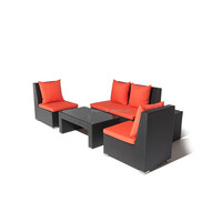 088 Armless designed garden wicker small sofa with loveseat and single chair outdoor furniture sets
