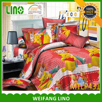 popular supplier wolf printing bedding sets bed sheet