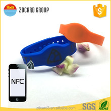 Logo printed 13.56mhz silicone nfc wristband