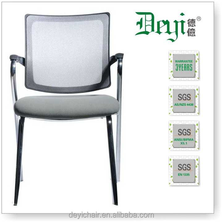 Amazing Chrome Frame Normal Waiting Chair 5390D Four Legs Conference Room Chair