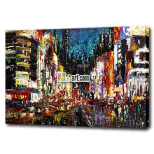 Hot sale Mordern home supplies framed oil painting abstract New York city