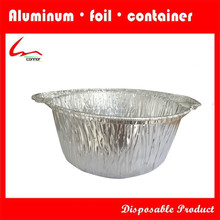 Disposable Large Recycable Round Aluminium Foil Pot With Lid