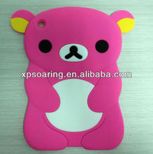 for mini ipad relax bear case silicon back cover