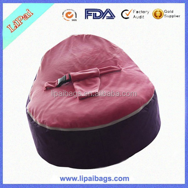 2015 New Waterproof Fabrics Baby Bean Bag with Comfortable Velvet For Baby Sleeping